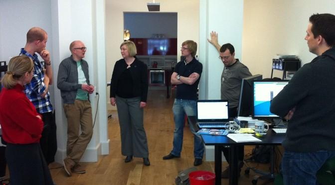 A daily sprint meeting.