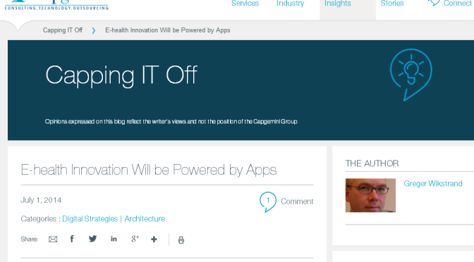 """Blogging on """"Capping IT Off"""""""